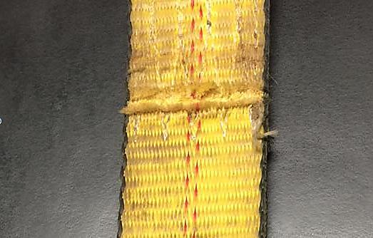 Tie Down Webbing Damaged Picture