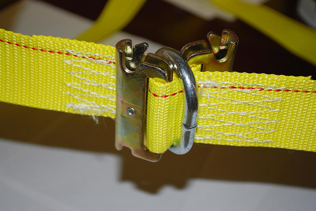 E Track Strap connector in use