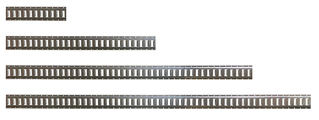 E Track Rails Different Lengths Comparison