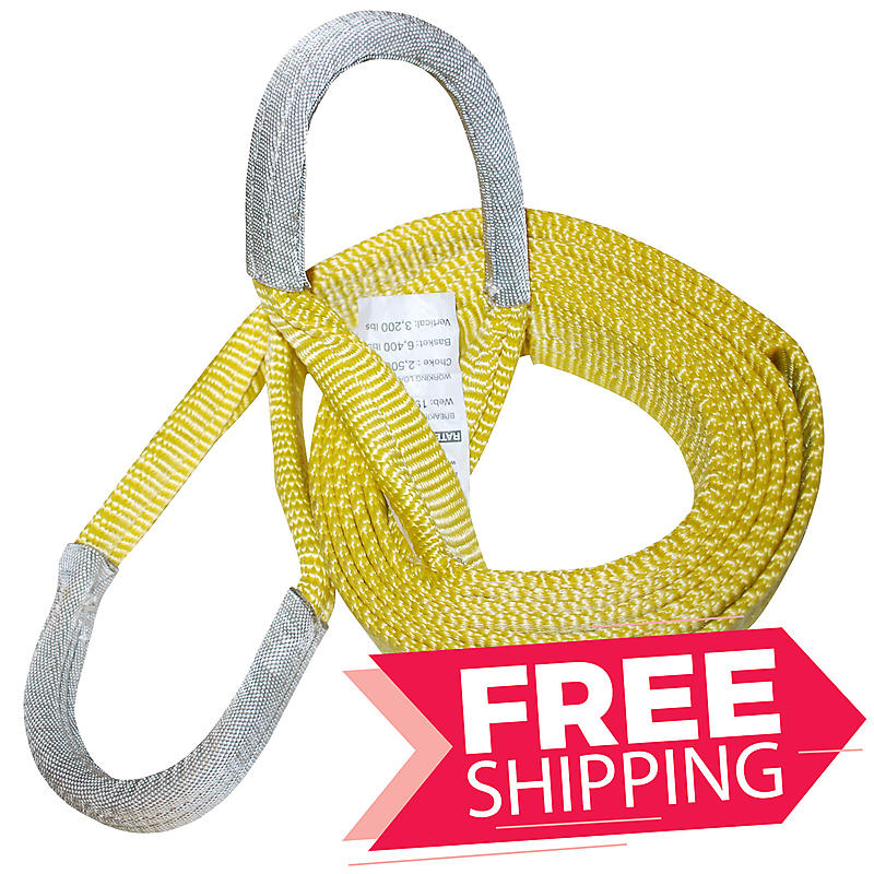 """2"""" x 12' ONE PLY Recovery Tow Strap"""