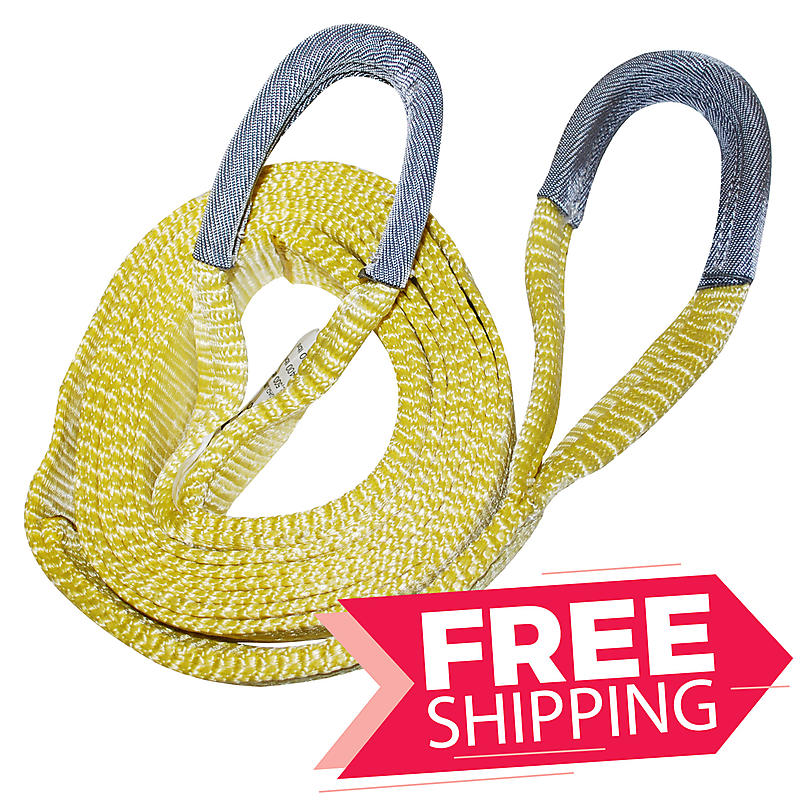 """2"""" x 30' TWO PLY Tow Strap with 8"""" Cordura Eyes"""