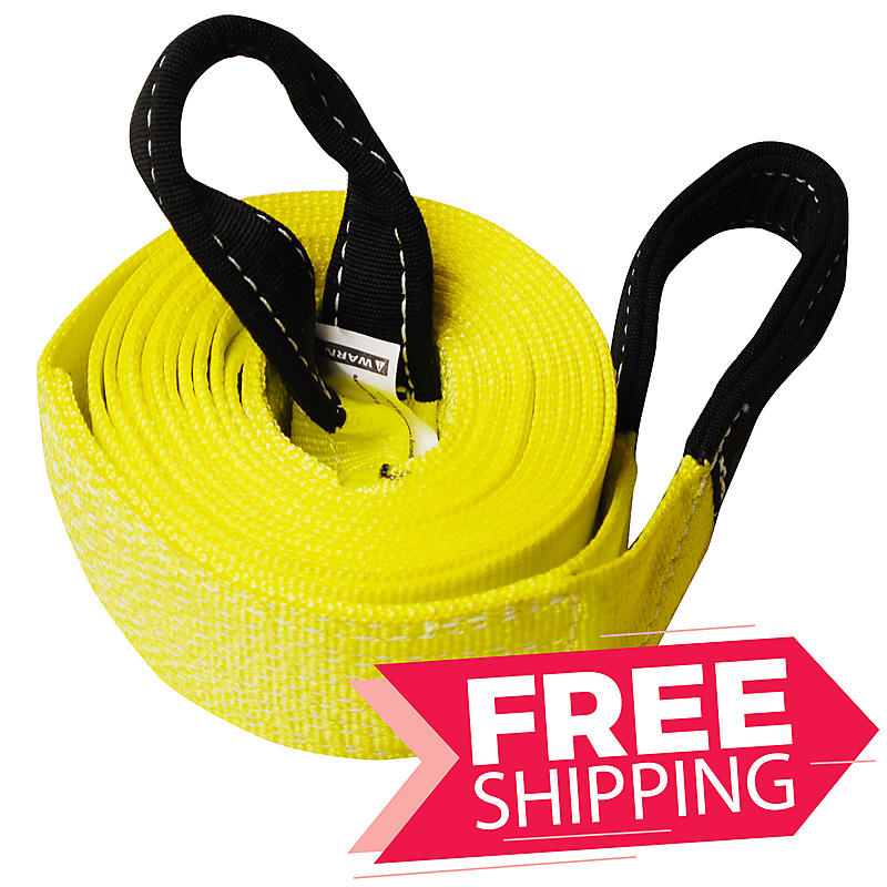 """3"""" x 20' ONE PLY Tow Strap with 10"""" Cordura Eyes"""