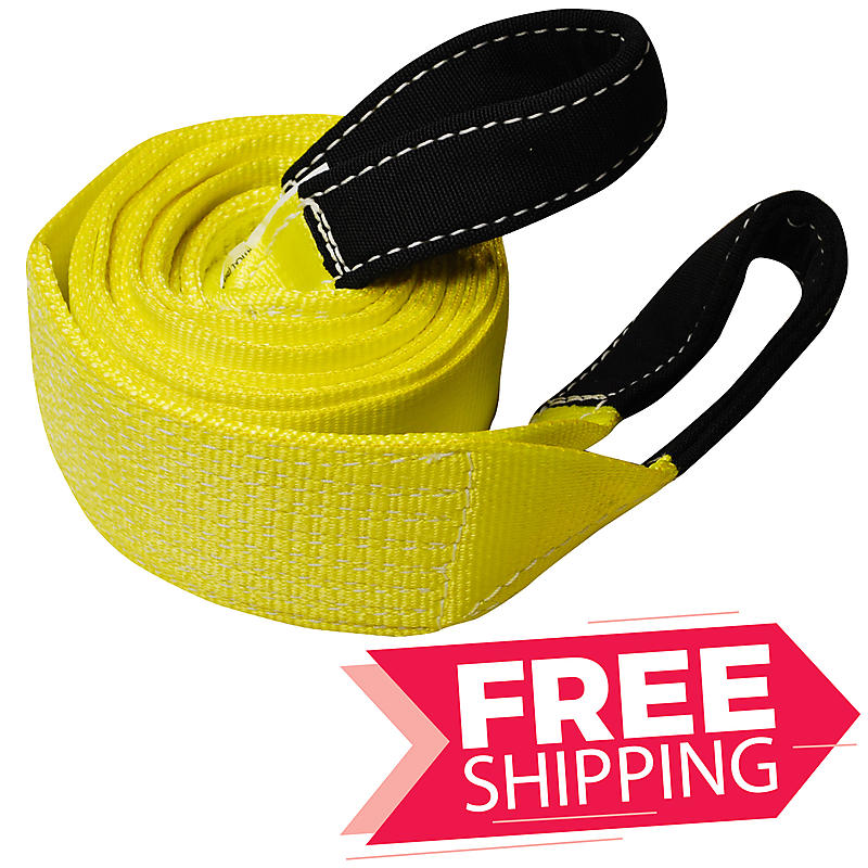 "4"" x 20' ONE PLY Tow Strap with 10"" Cordura Eyes"