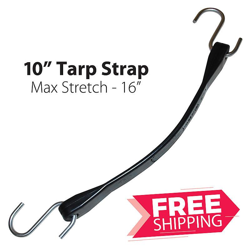 """10"""" Rubber Tarp Straps"""