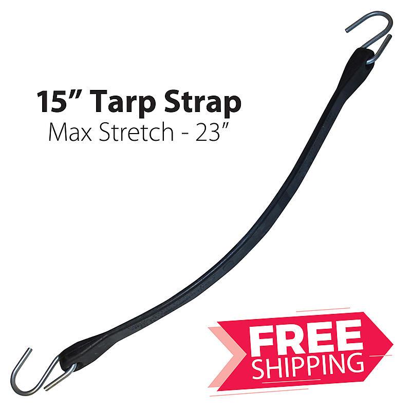 """15"""" Rubber Tarp Straps"""