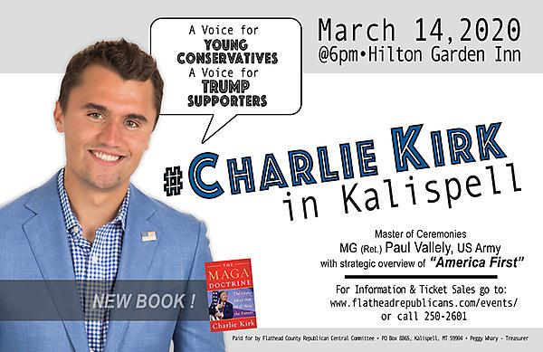 Charlie Kirk in Kalispell