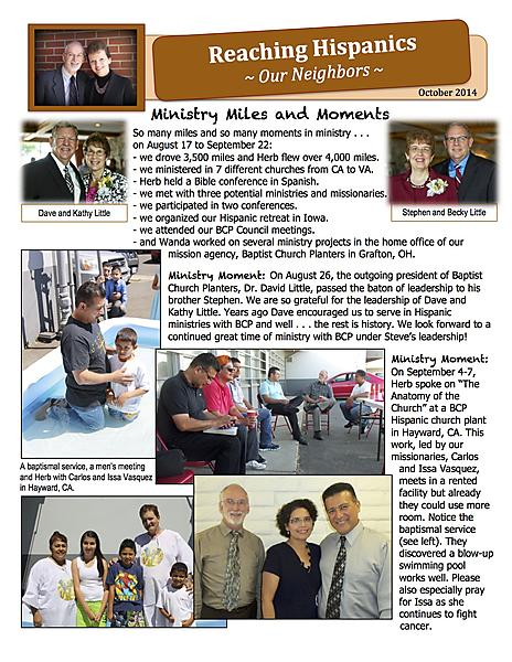 CLICK HERE TO VIEW OCTOBER 2014