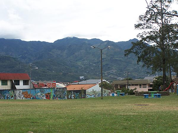 A Nearby Park and Mountains
