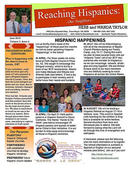 Ministry Newsletter June 2012