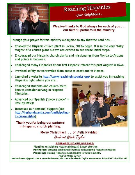 Ministry Update December 24 2012