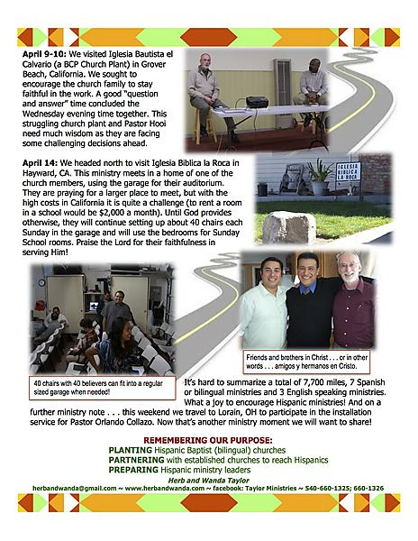 Ministry Update April 26 2013 page 2