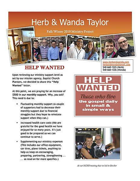 VIEW OUR 8220HELP WANTED8221 PROJECT HERE