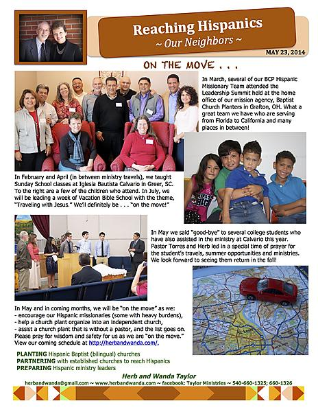 CLICK HERE TO VIEW MAY 2014