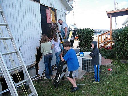 Making Repairs at Good News in Katy