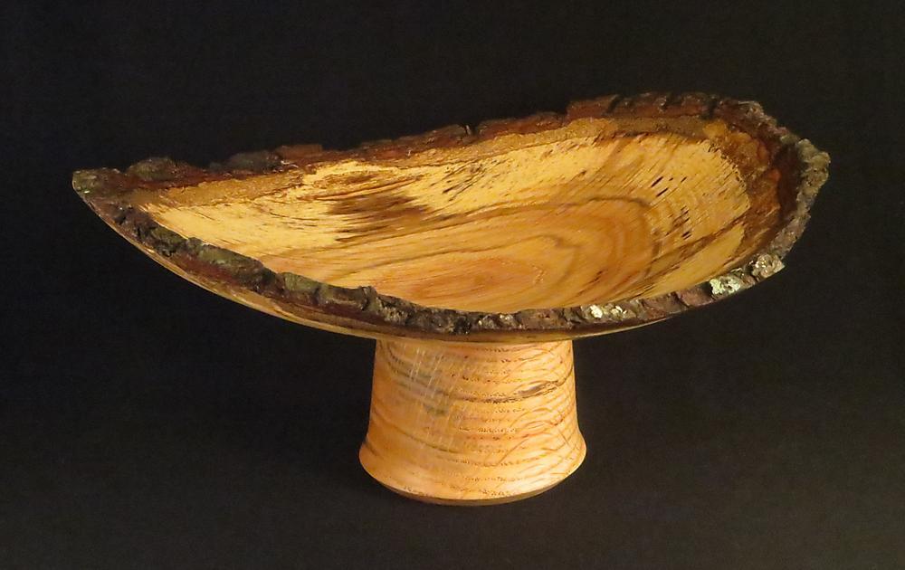 Spalted Red Oak Pedestal