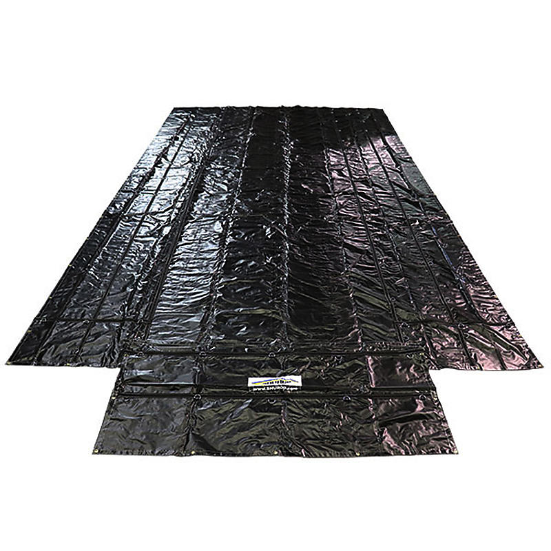 Black 18 oz Lumber Tarp 26' x 16' with 4' drop