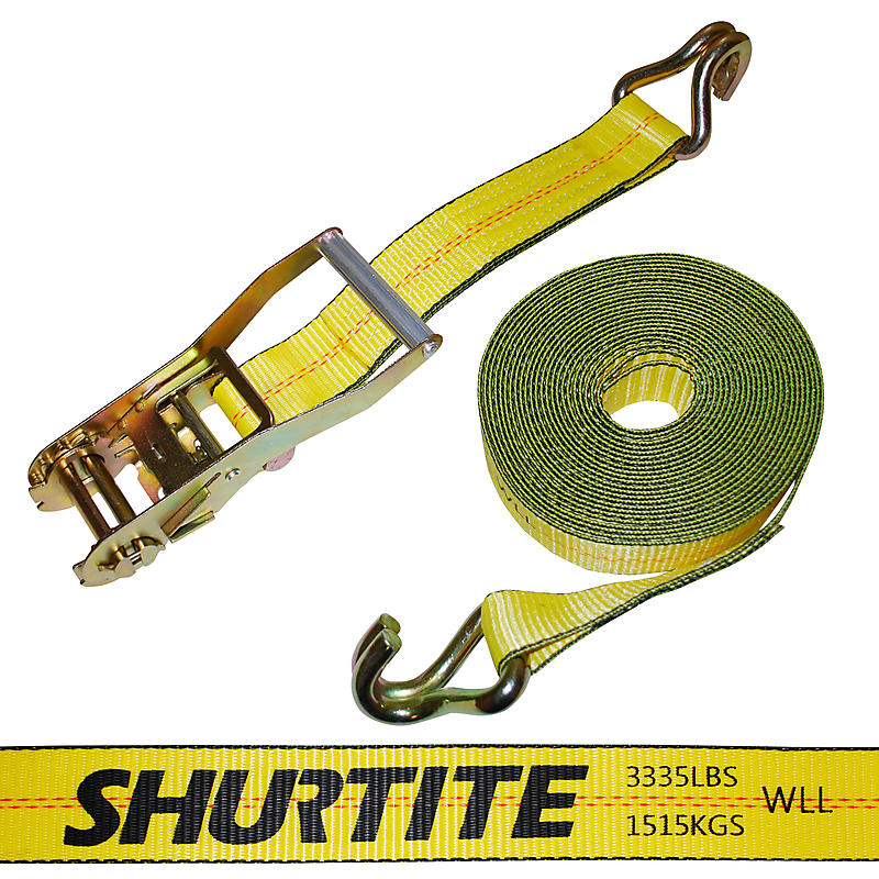 "2"" x 30' Ratchet Strap with Wire Hooks - Canada Cargo"