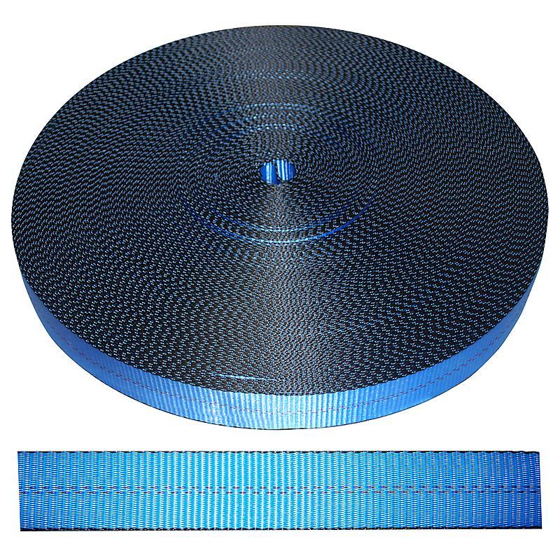 "2"" Blue Polyester Webbing 12,000 lbs | RatchetStrapsUSA"