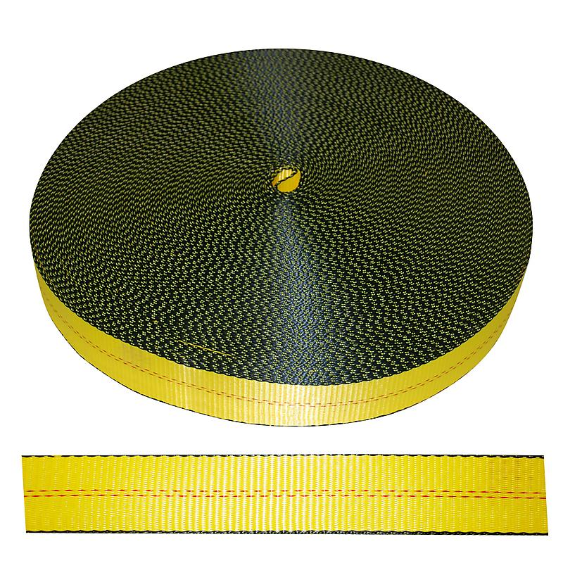 2 inch Yellow Polyester Webbing 12,000 | RatchetStrapsUSA