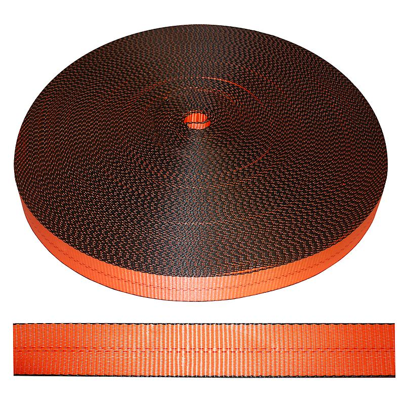 2 inch Orange Polyester Webbing 12,000 lbs