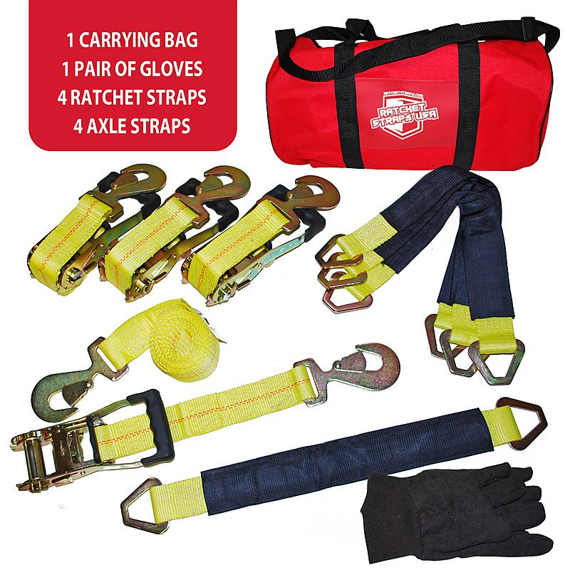 "2"" Auto Ratchet Strap and Axle Strap Set 