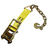 4 inch Ratchet Strap Short End with Chain and Hook | RatchetStrapsUSA