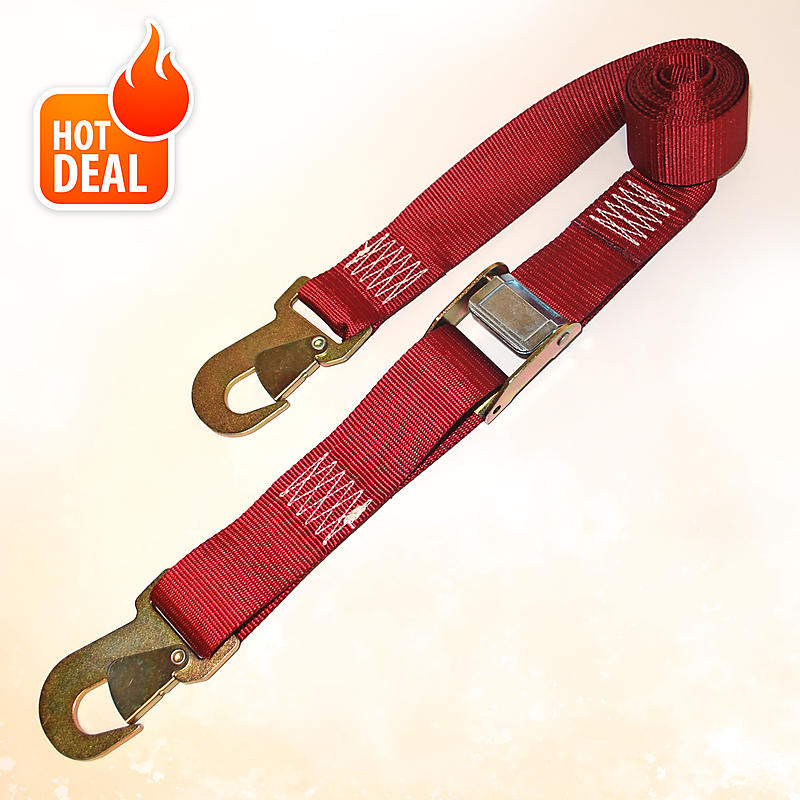"""2"""" x 8' Cam Buckle Strap with Snap Hooks 