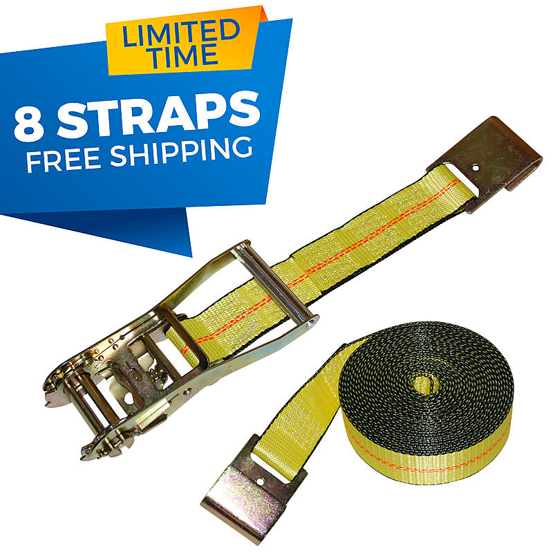 "2"" Ratchet Strap with Flat Hooks"