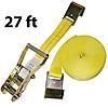"2"" x 27' Ratchet Strap w/Flat Hooks | RatchetStrapsUSA"