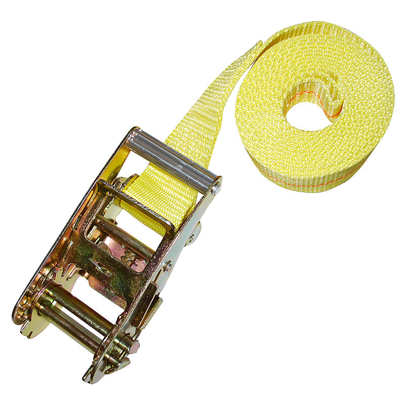 "2"" Heavy Duty Endless Loop Ratchet Strap Yellow"