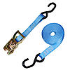 "1"" Blue Heavy Duty Ratchet Strap w/ S-Hook"