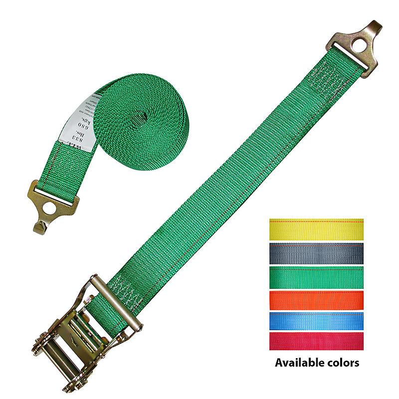 2 inch Ratchet Strap with Plate Trailer Hooks | RatchetStrapsUSA