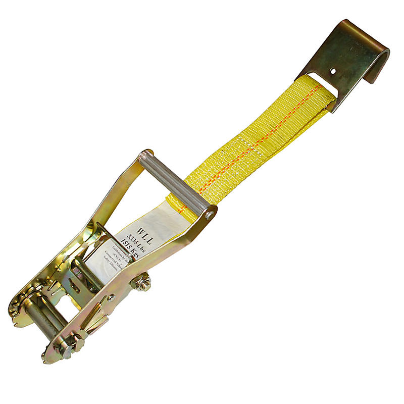 "2"" Ratchet Strap Short End w/ Flat Hook 