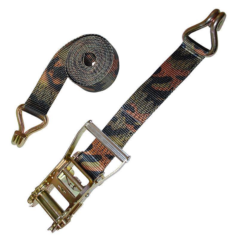 "2"" Camo Ratchet Strap with Wire Hooks"