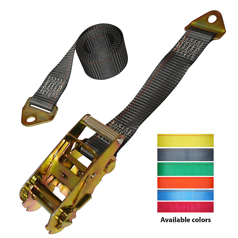 2 inch Ratchet Strap with Floor Anchor Mount | RatchetStrapUSA