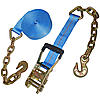 Blue 2 inch Ratchet Strap with Chain & Hook | RatchetStrapsUSA