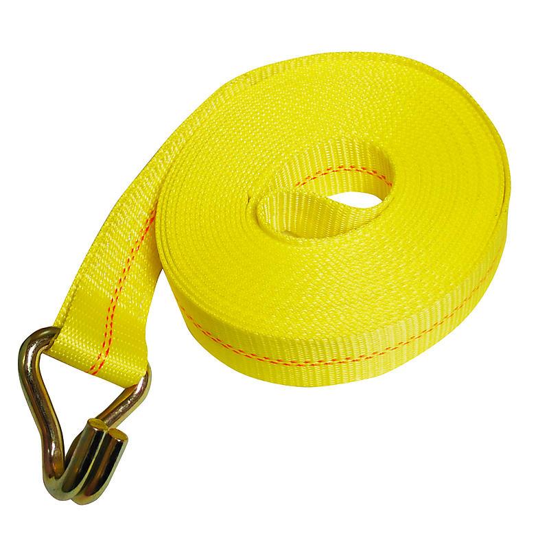 "2"" x 30' Winch Strap w/Wire Hook | RatchetStrapsUSA"