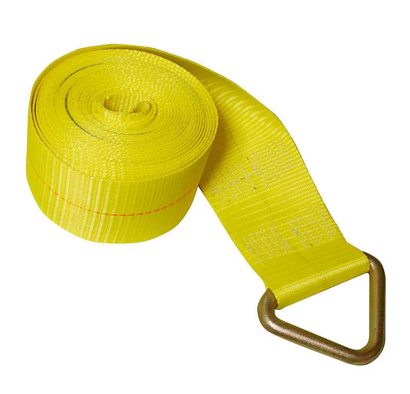 "4"" x 27' Yellow Winch Strap with Delta Ring 