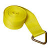 "4"" x 30' Yellow Winch Strap with Delta Ring 