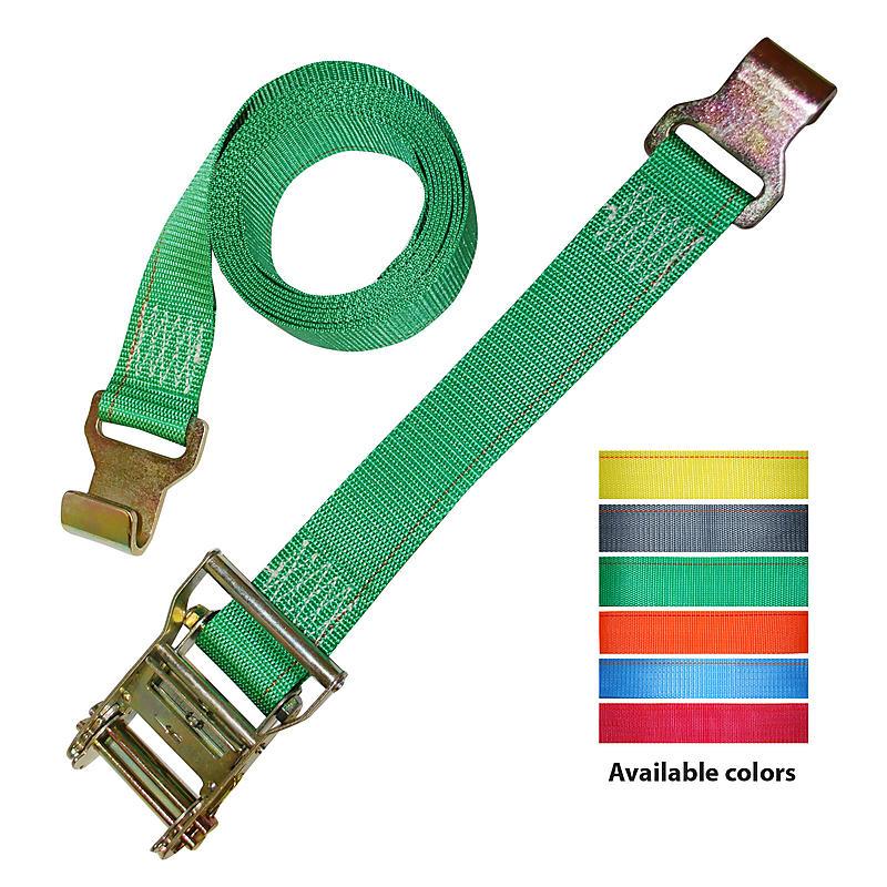2 inch Ratchet Strap with Narrow Flat Hooks | RatchetStrapsUSA