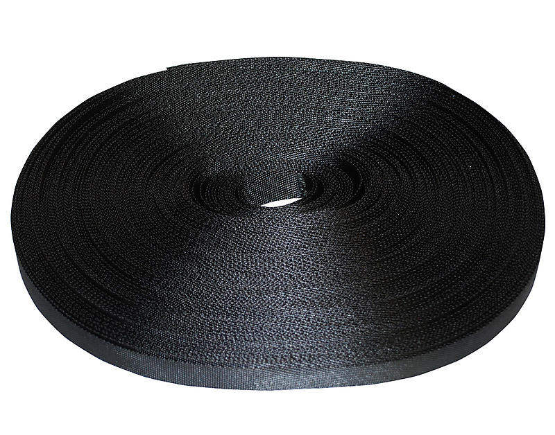 1 inch Black Polyester Tie Down Webbing 1500 lb bs | RatchetStrapsUSA