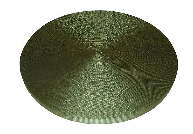 "1"" Olive Drab Polyester Web 6600 lb breaking strength"