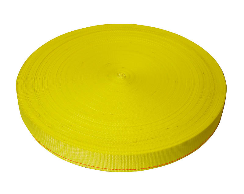 2 inch Light Duty Yellow Polyester Webbing 6000 lbs | RatchetStrapsUSA