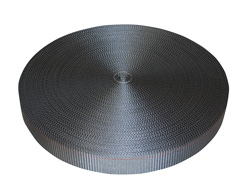 "2"" Gray Polyester Webbing 6000 lbs | RatchetStrapsUSA"