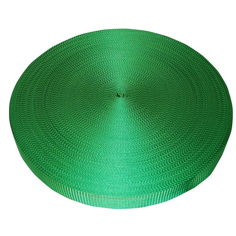 "2"" Green Polyester Webbing 6000 lb Breaking Strength"