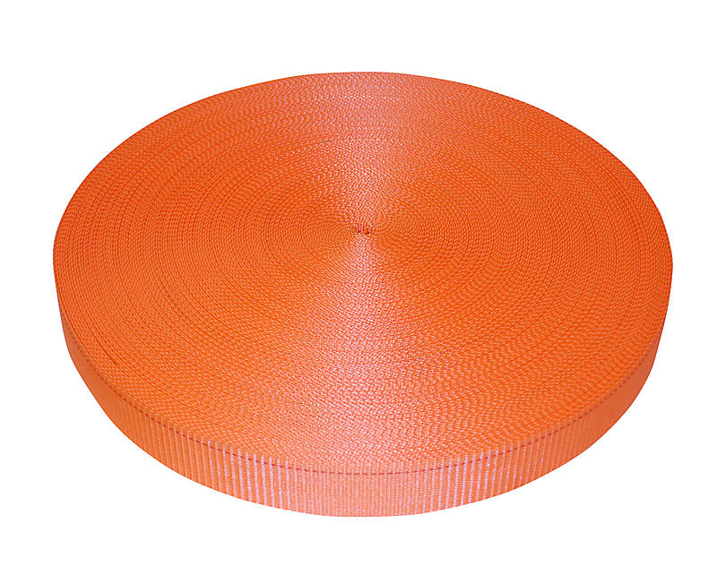 "2"" Orange Polyester Webbing 6000 lbs"