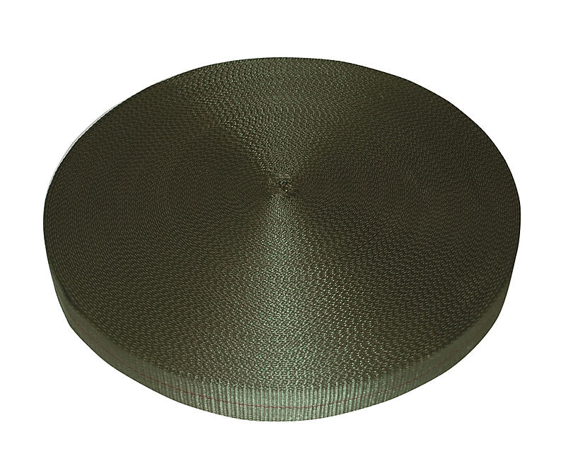 "2"" Olive Drab Polyester Webbing 12,000"