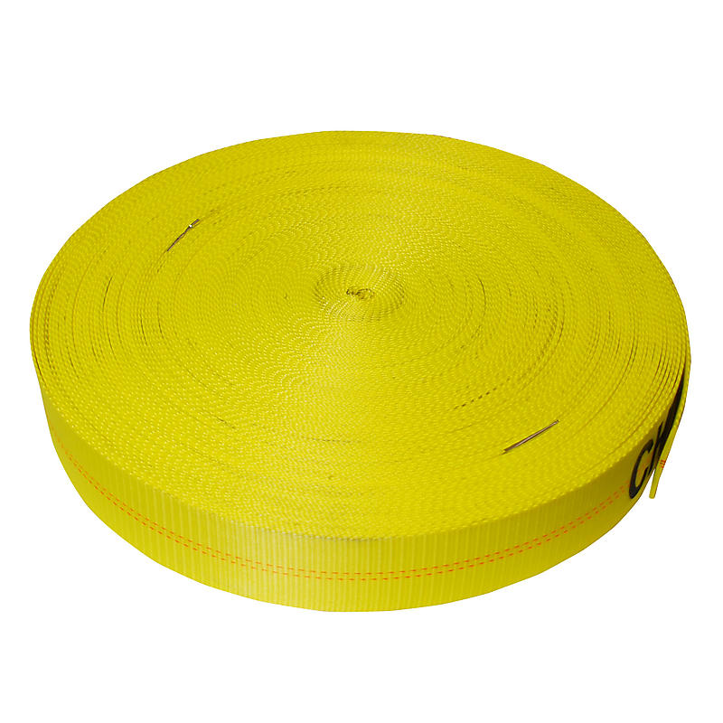 3 inch Yellow Polyester Tie Down Webbing 18,000 lbs | RatchetStrapsUSA