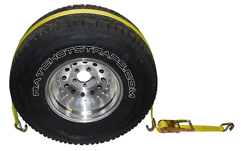 Wheel Tie Down with Wire Hooks | RatchetStrapsUSA