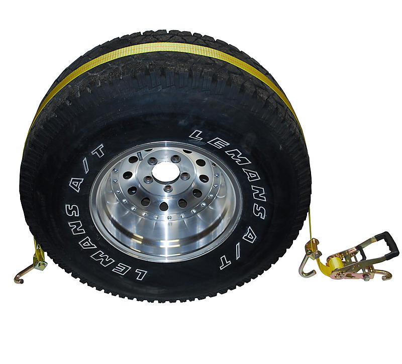 Wheel Tie Downs with Swivel Hooks